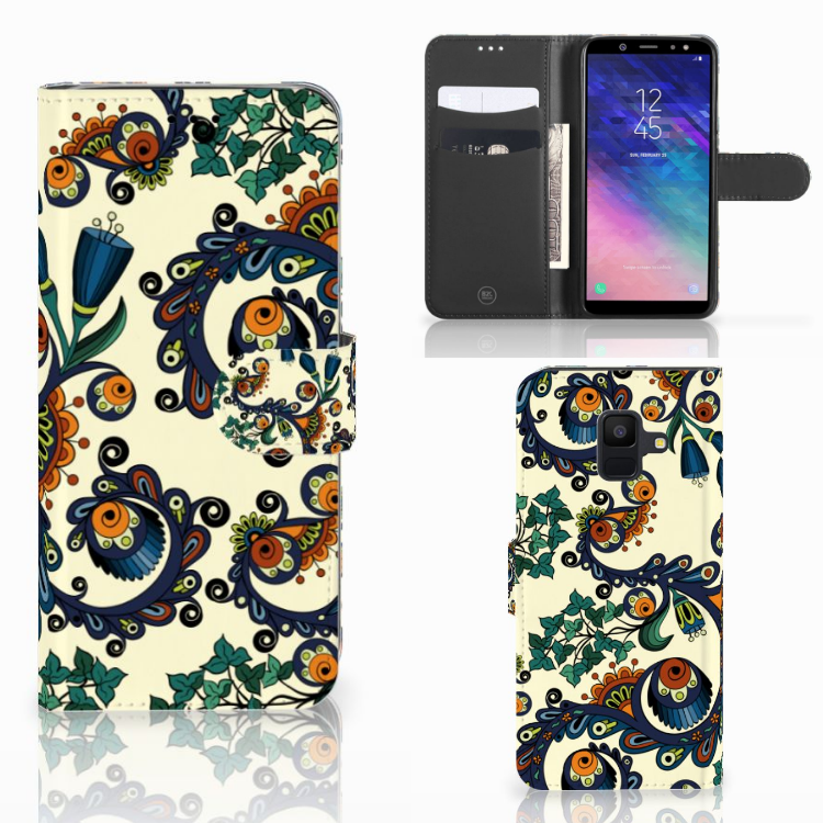 Wallet Case Samsung Galaxy A6 2018 Barok Flower