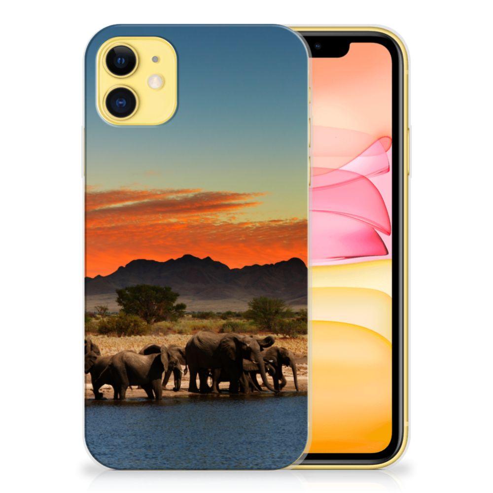 Apple iPhone 11 TPU Hoesje Olifanten