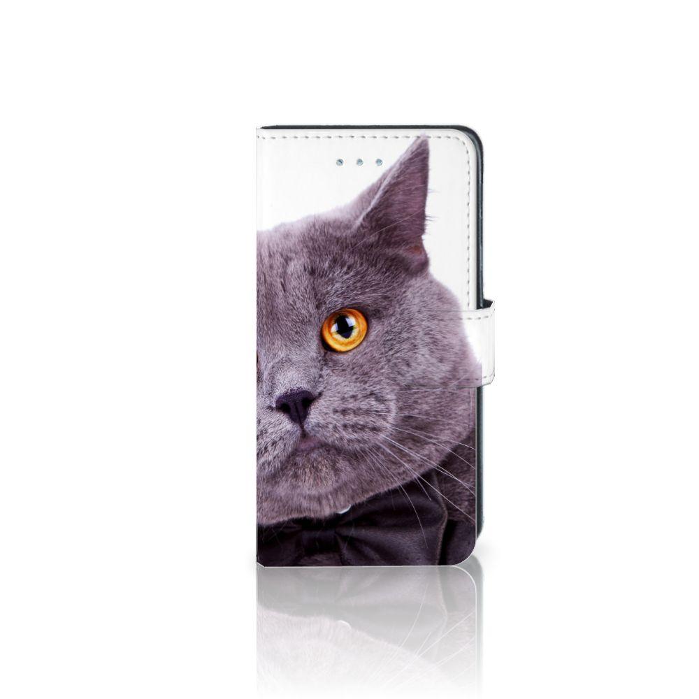 Samsung Galaxy J3 2016 Telefoonhoesje met Pasjes Kat