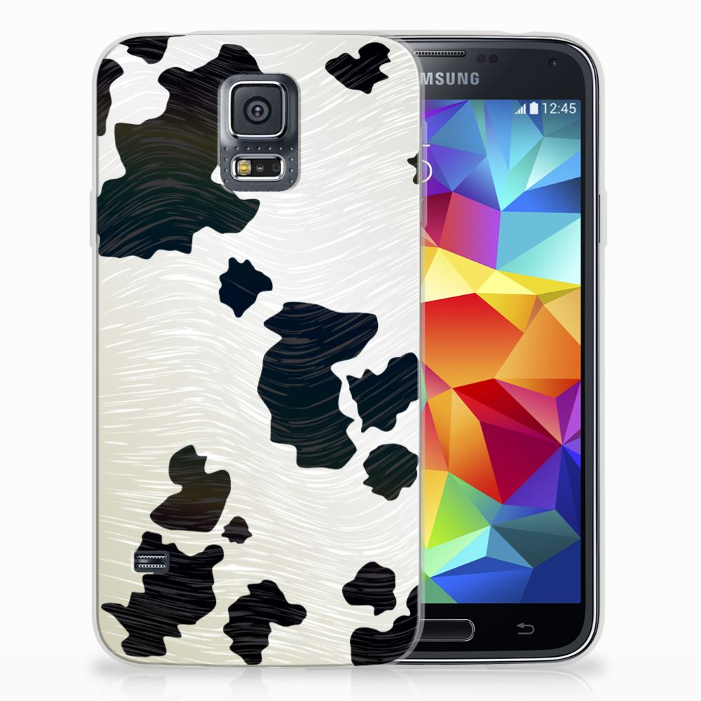 Samsung Galaxy S5 TPU Hoesje Design Koeienvlekken