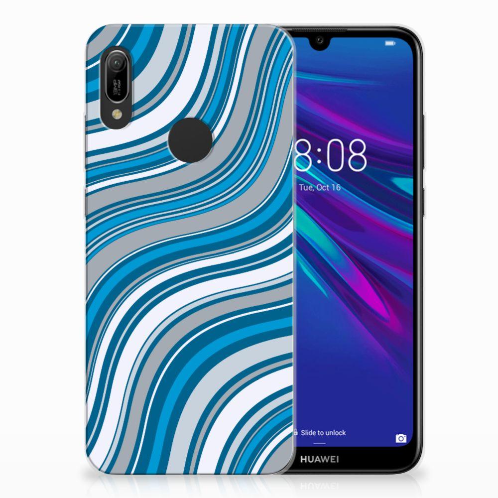 Huawei Y6 2019 | Y6 Pro 2019 TPU Hoesje Design Waves Blue