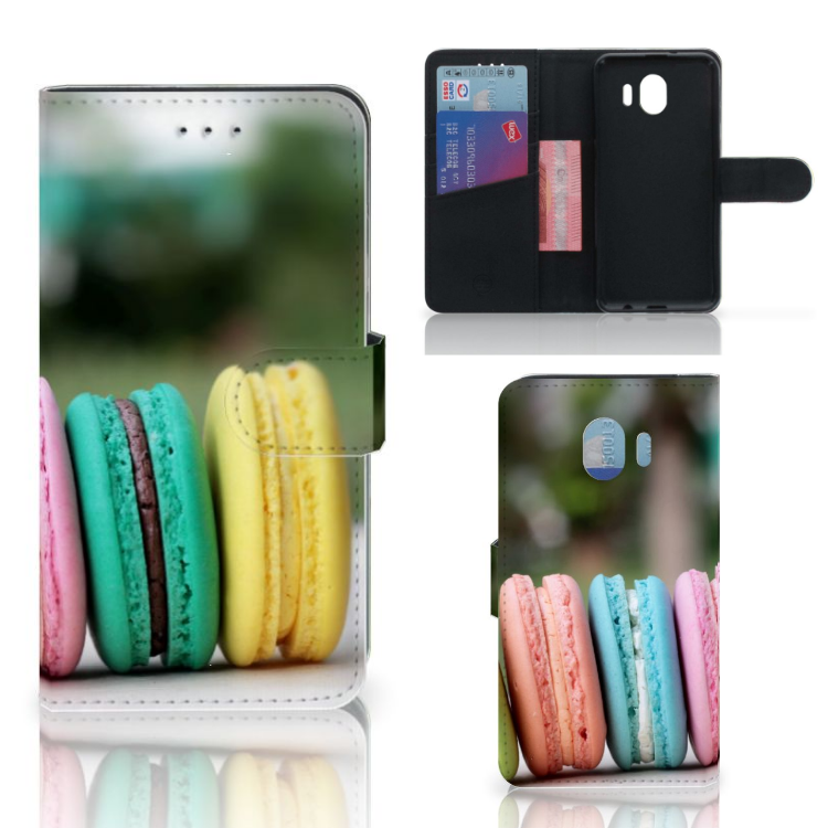 Samsung Galaxy J4 2018 Book Cover Macarons