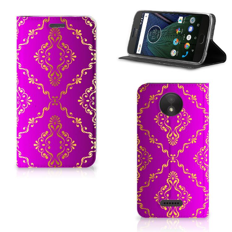 Telefoon Hoesje Motorola Moto C Plus Barok Roze