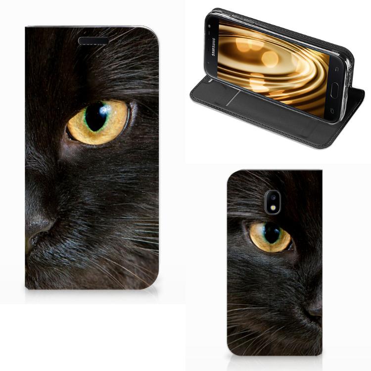 Samsung Galaxy J3 2017 Hoesje maken Zwarte Kat