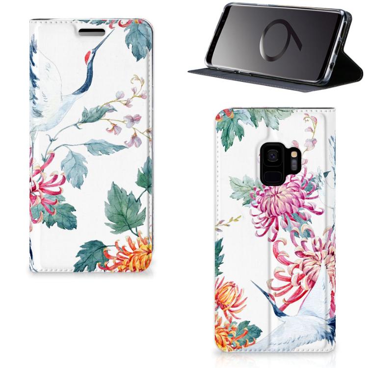 Samsung Galaxy S9 Hoesje maken Bird Flowers