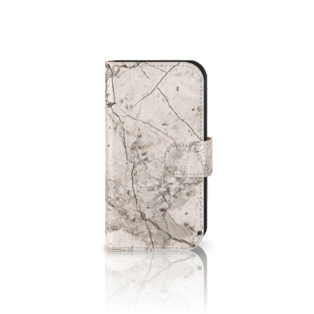 Samsung Galaxy Ace 4 4G (G357-FZ) Boekhoesje Design Marmer Beige