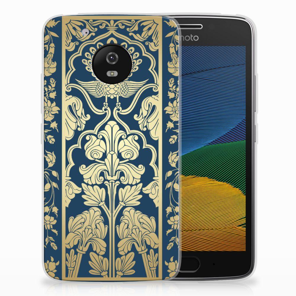 Motorola Moto G5 TPU Case Golden Flowers