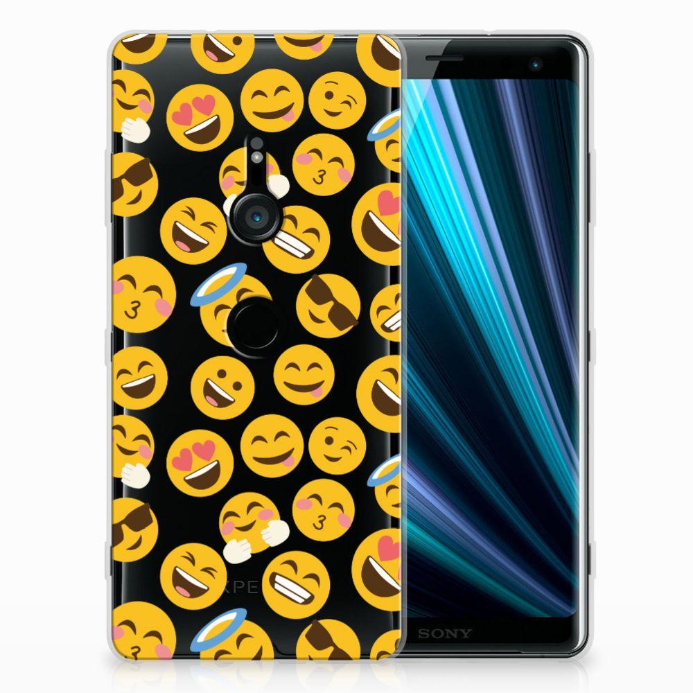 Sony Xperia XZ3 TPU bumper Emoji