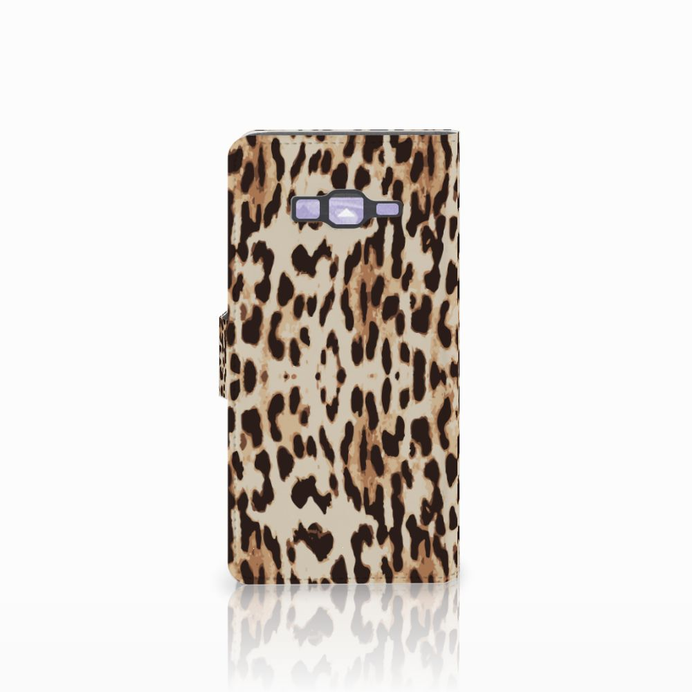 Samsung Galaxy Grand Prime   Grand Prime VE G531F Telefoonhoesje met Pasjes Leopard