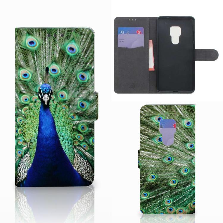 Huawei Mate 20 Telefoonhoesje met Pasjes Pauw