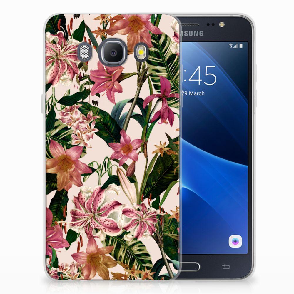 Samsung Galaxy J5 2016 Uniek TPU Hoesje Flowers