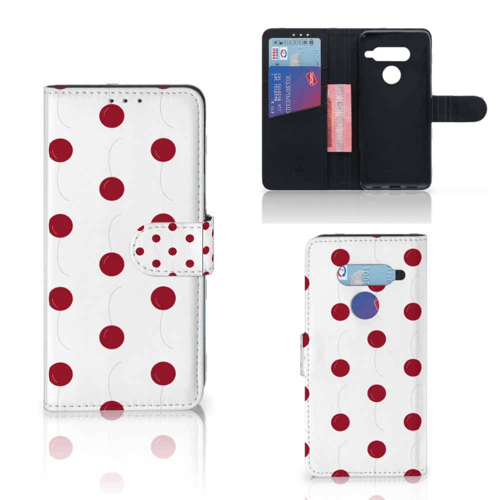 LG V40 Thinq Book Cover Cherries