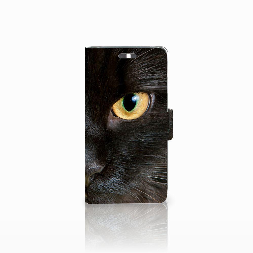 Huawei Y625 Uniek Boekhoesje Zwarte Kat