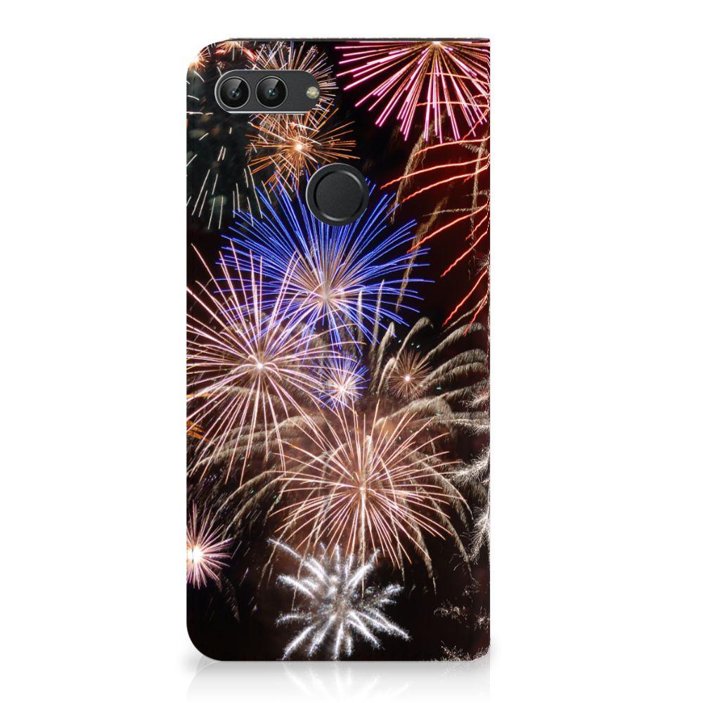 Huawei P Smart Standcase Hoesje Design Vuurwerk