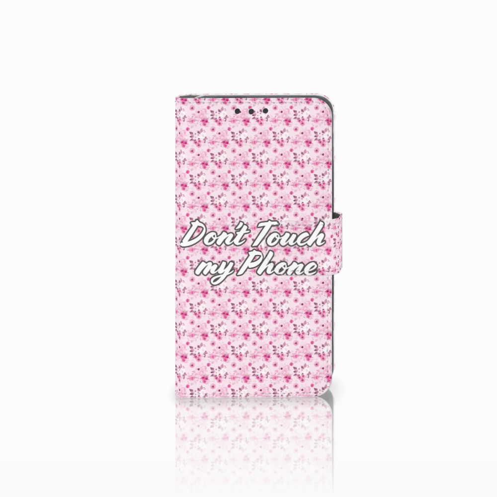 Huawei Y5 2 | Y6 II Compact Portemonnee hoesje Flowers Pink DTMP