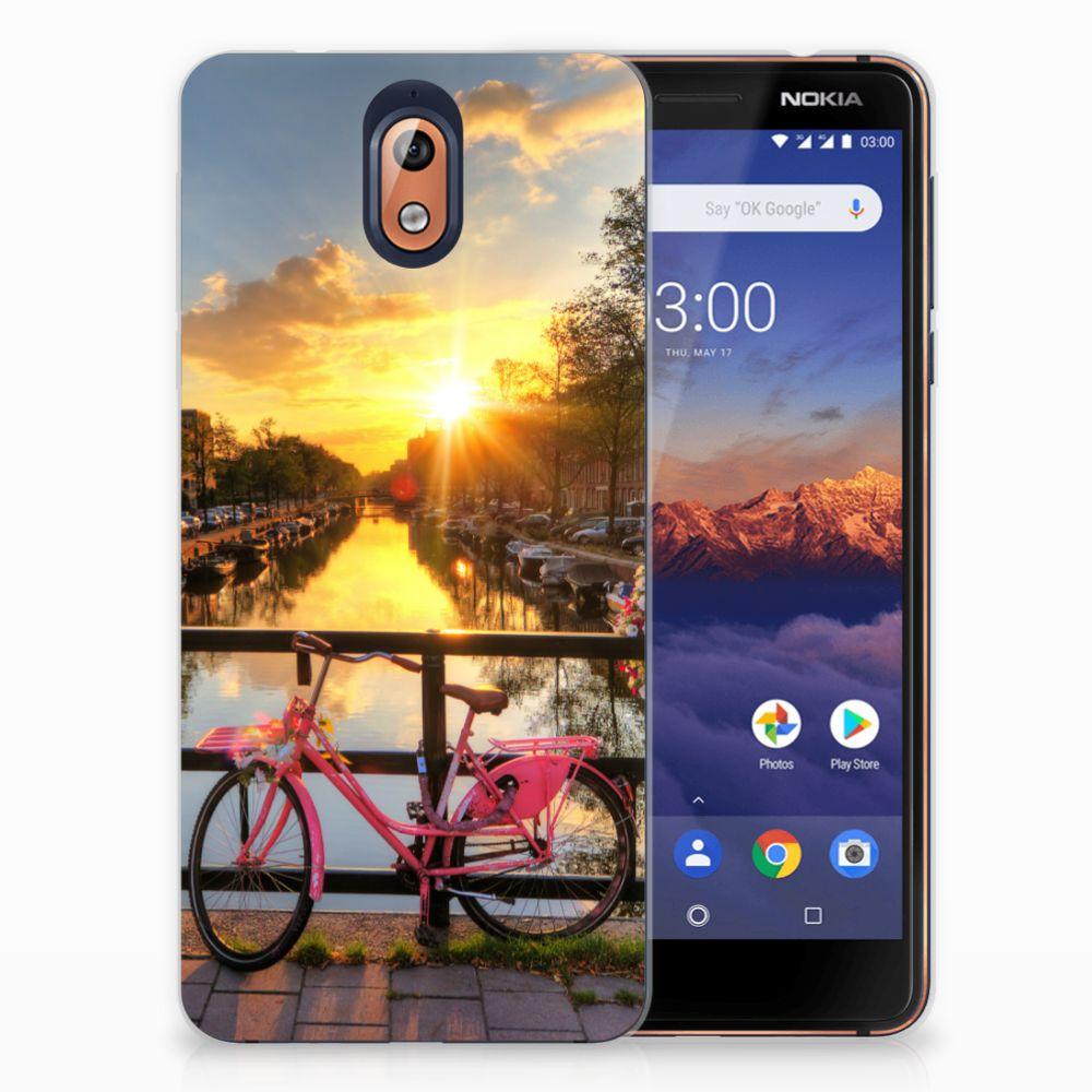 Nokia 3.1 (2018) Uniek TPU Hoesje Amsterdamse Grachten
