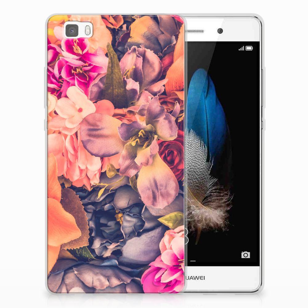 Huawei Ascend P8 Lite TPU Hoesje Design Bosje Bloemen
