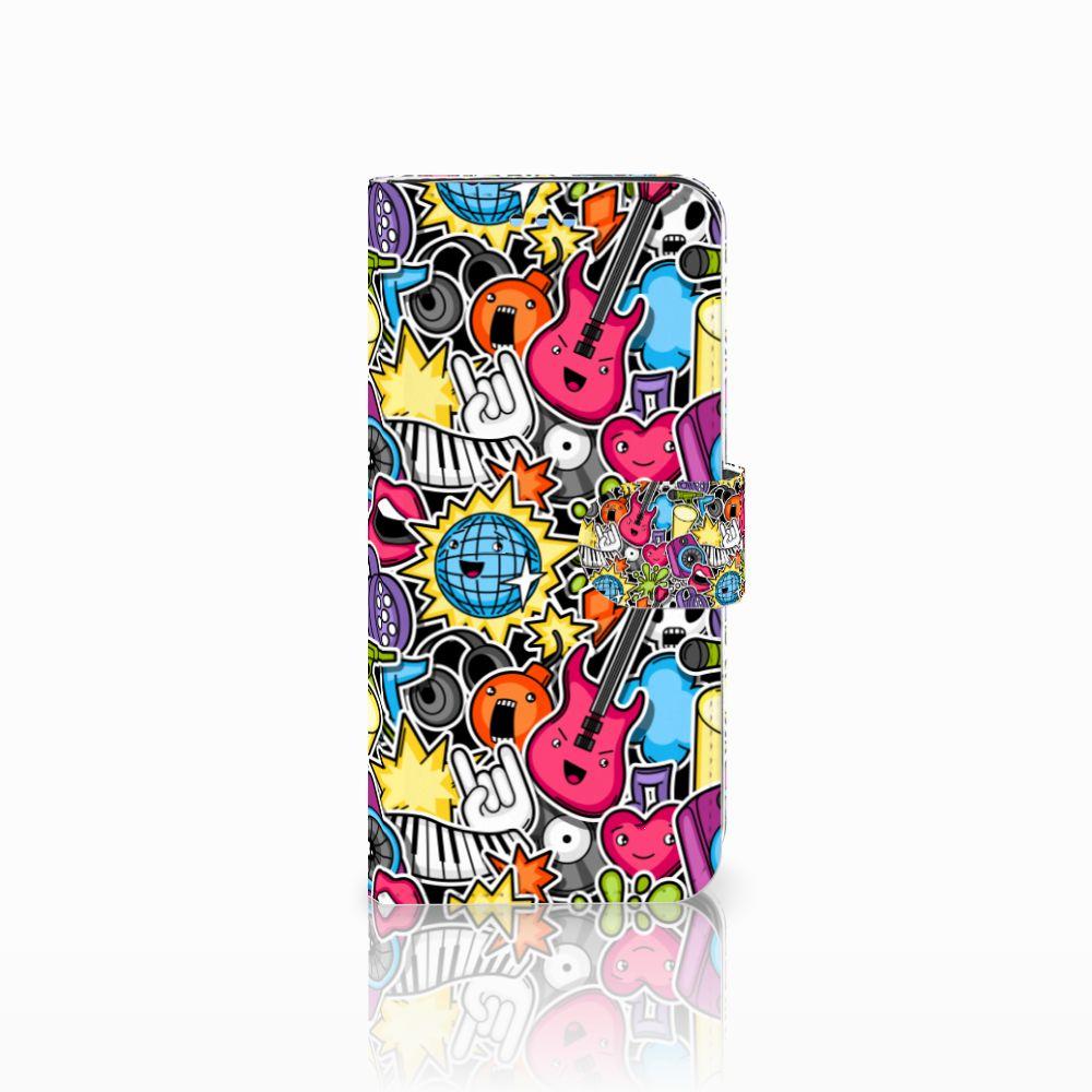 Samsung Galaxy S9 Uniek Boekhoesje Punk Rock