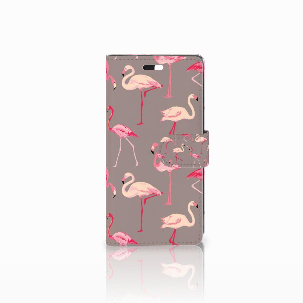 Huawei Y635 Uniek Boekhoesje Flamingo