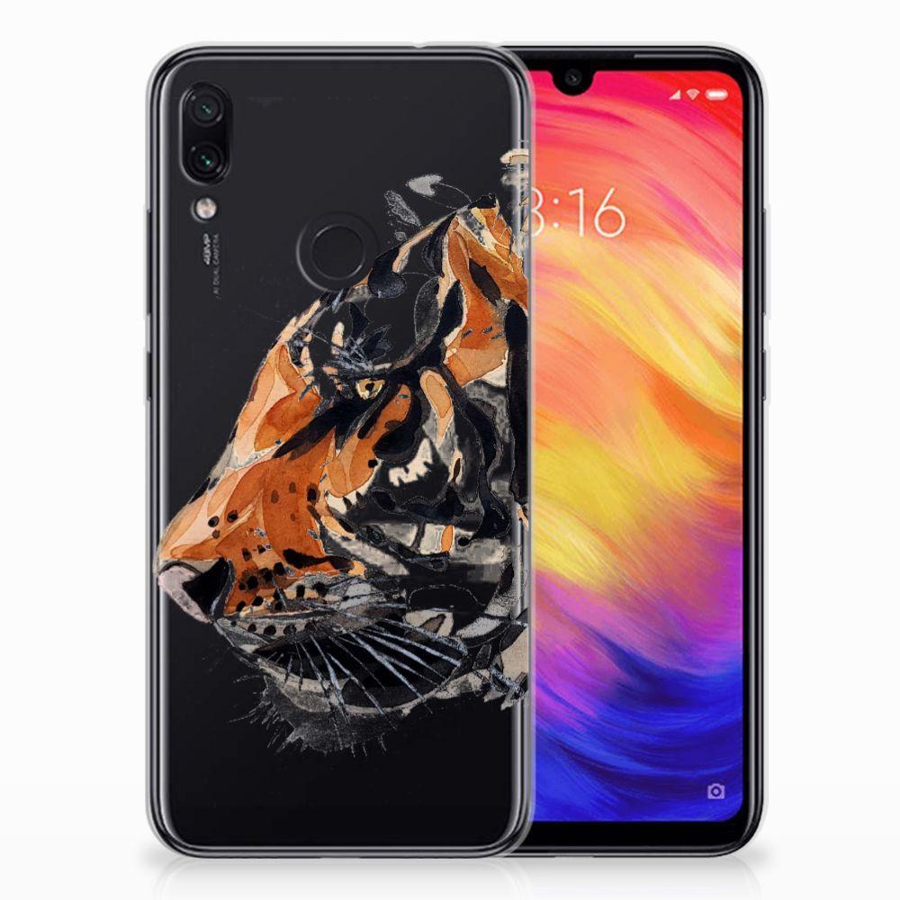 Hoesje maken Xiaomi Redmi Note 7 Watercolor Tiger