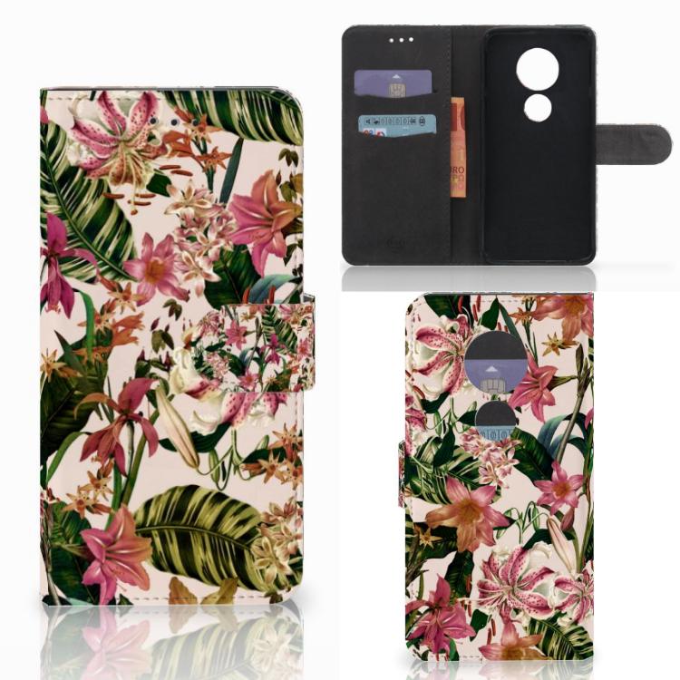 Motorola Moto E5 Play Hoesje Flowers