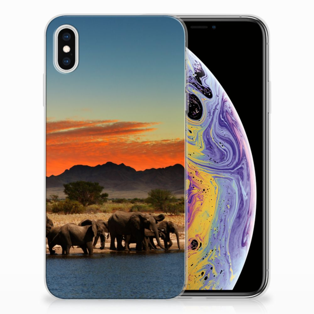 Apple iPhone Xs Max TPU Hoesje Design Olifanten