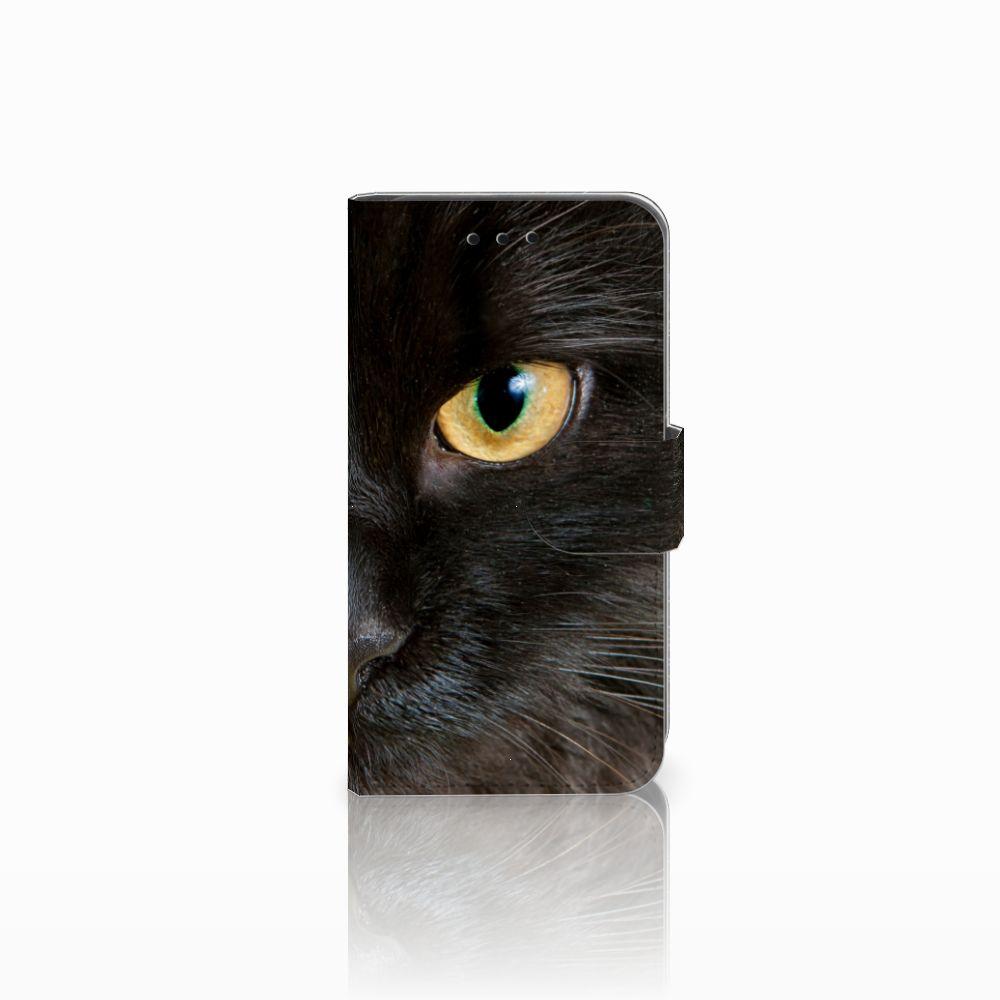 Microsoft Lumia 550 Uniek Boekhoesje Zwarte Kat