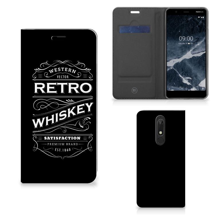 Nokia 5.1 (2018) Flip Style Cover Whiskey