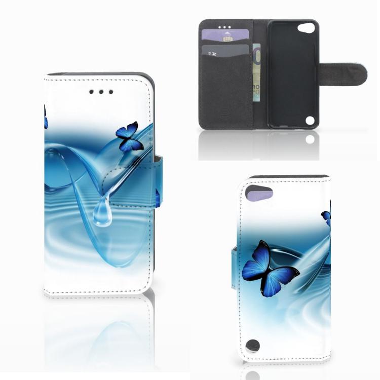 Apple iPod Touch 5 | 6 | iPod (2019) Telefoonhoesje met Pasjes Vlinders