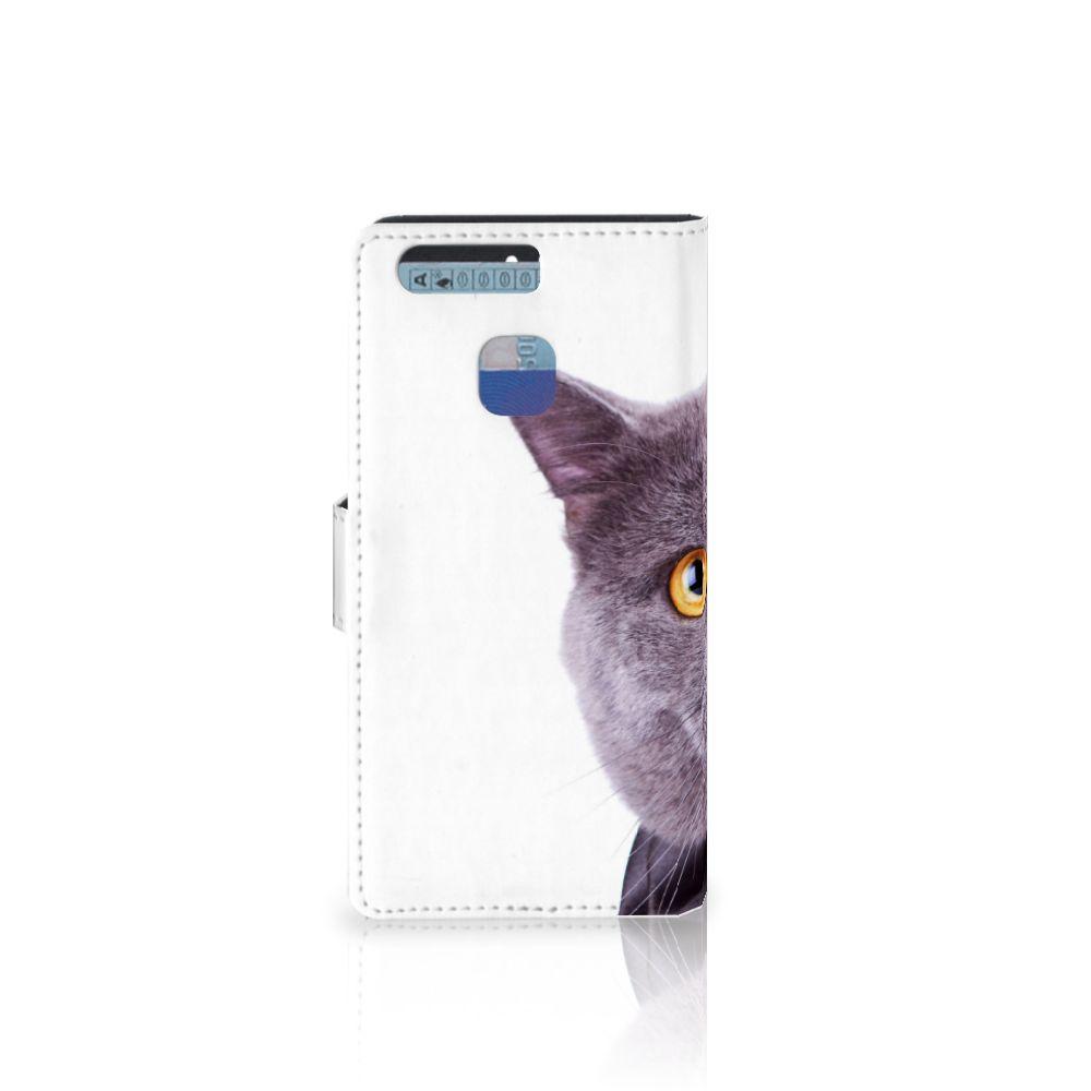 Huawei P9 Telefoonhoesje met Pasjes Kat