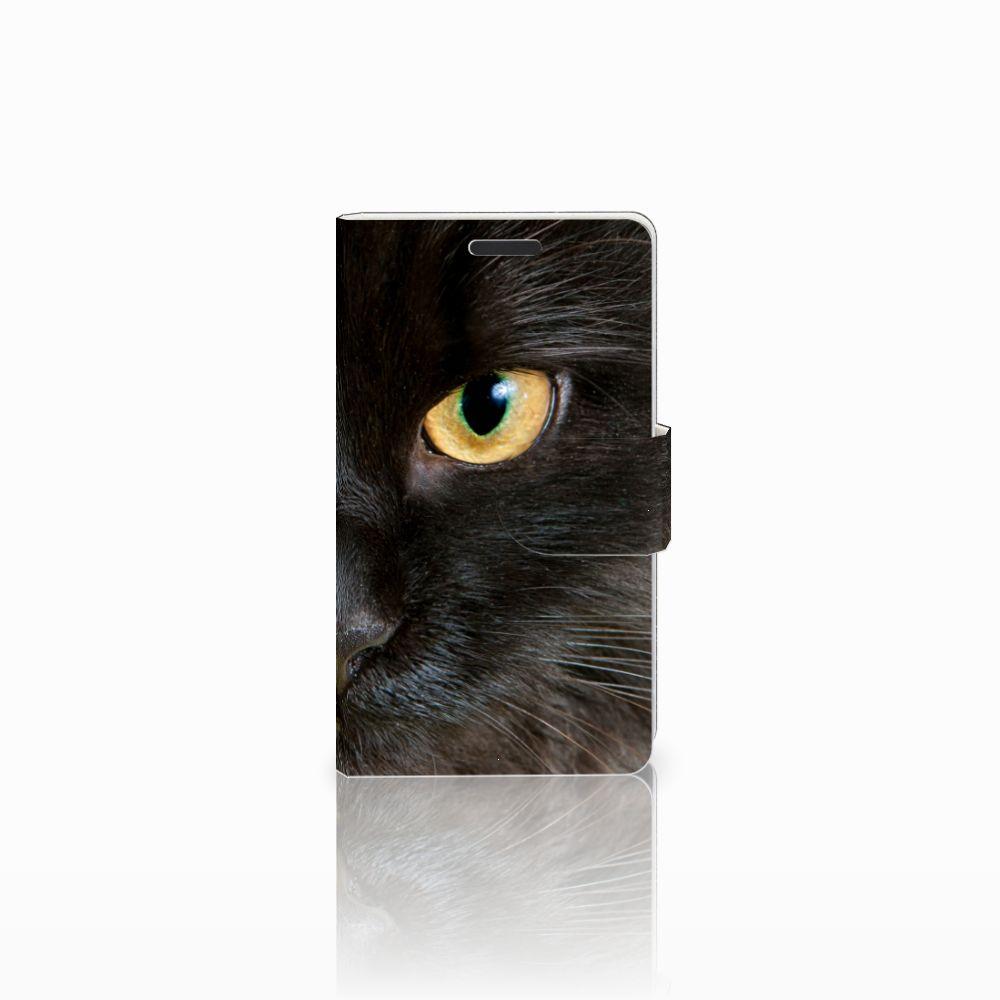 Microsoft Lumia 435 Uniek Boekhoesje Zwarte Kat