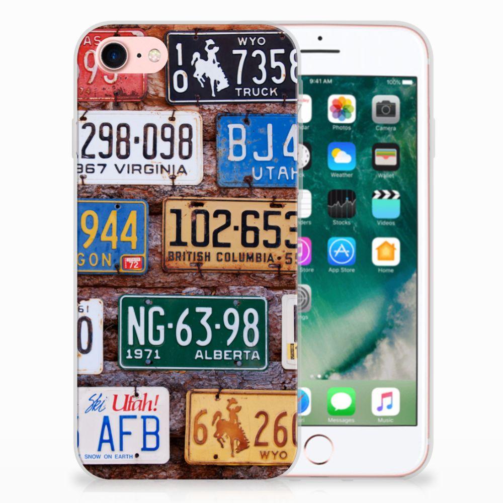 Apple iPhone 7   8 Uniek TPU Hoesje Kentekenplaten