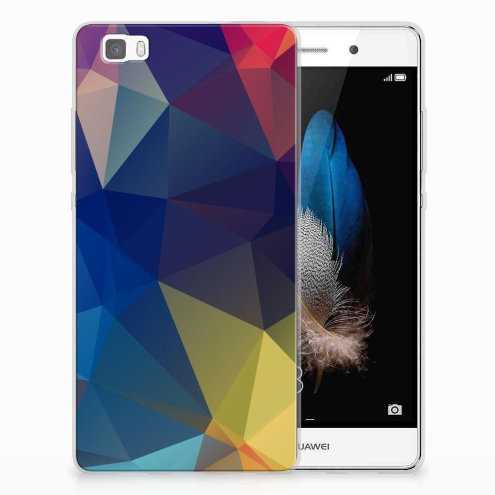 Huawei Ascend P8 Lite TPU Hoesje Polygon Dark