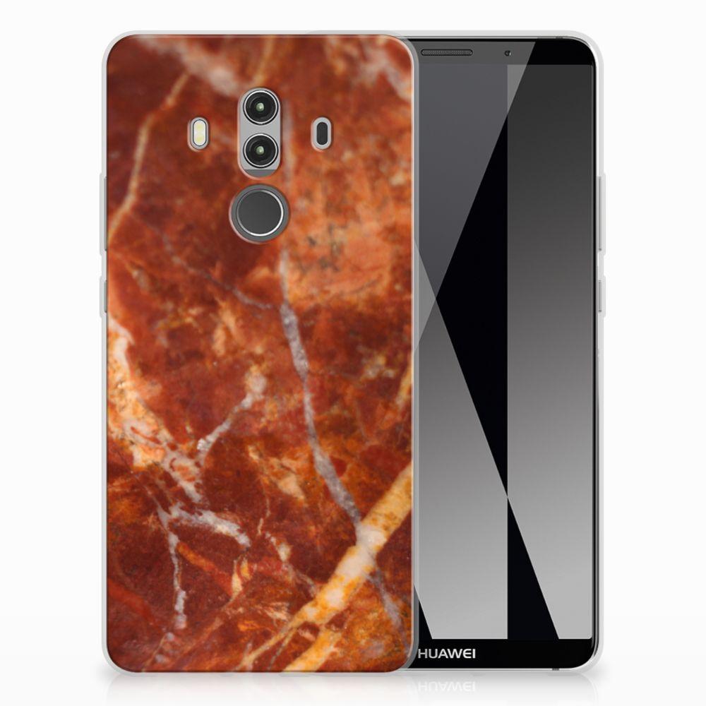 Huawei Mate 10 Pro TPU Siliconen Hoesje Marmer Bruin