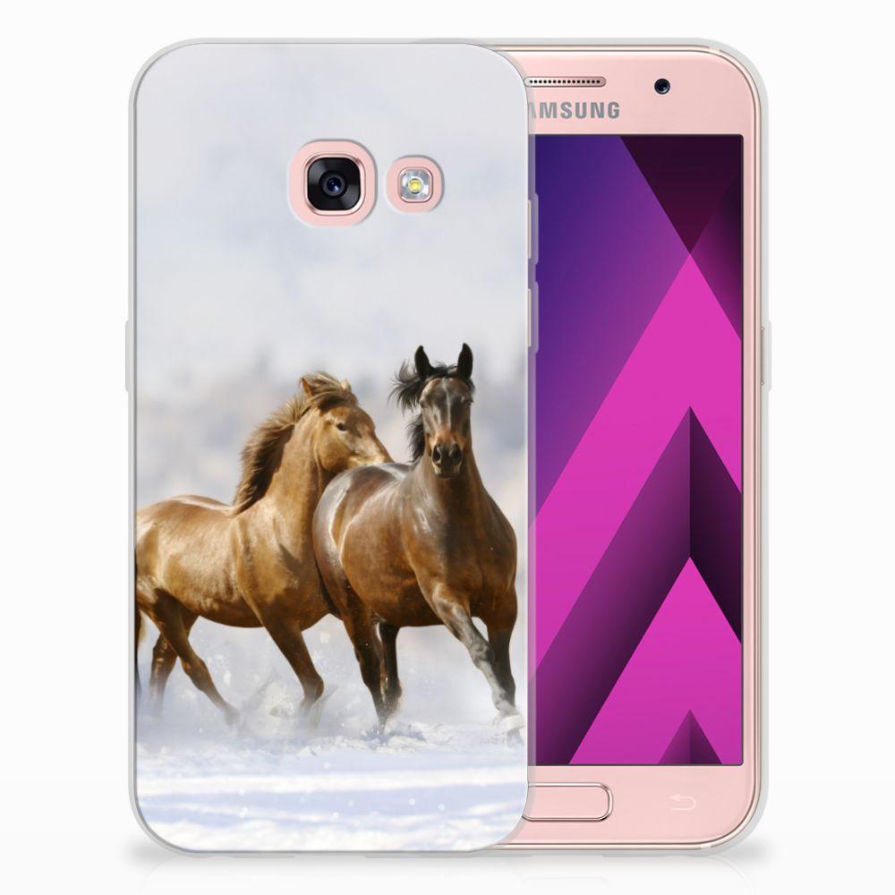 Samsung Galaxy A3 2017 Uniek TPU Hoesje Paarden
