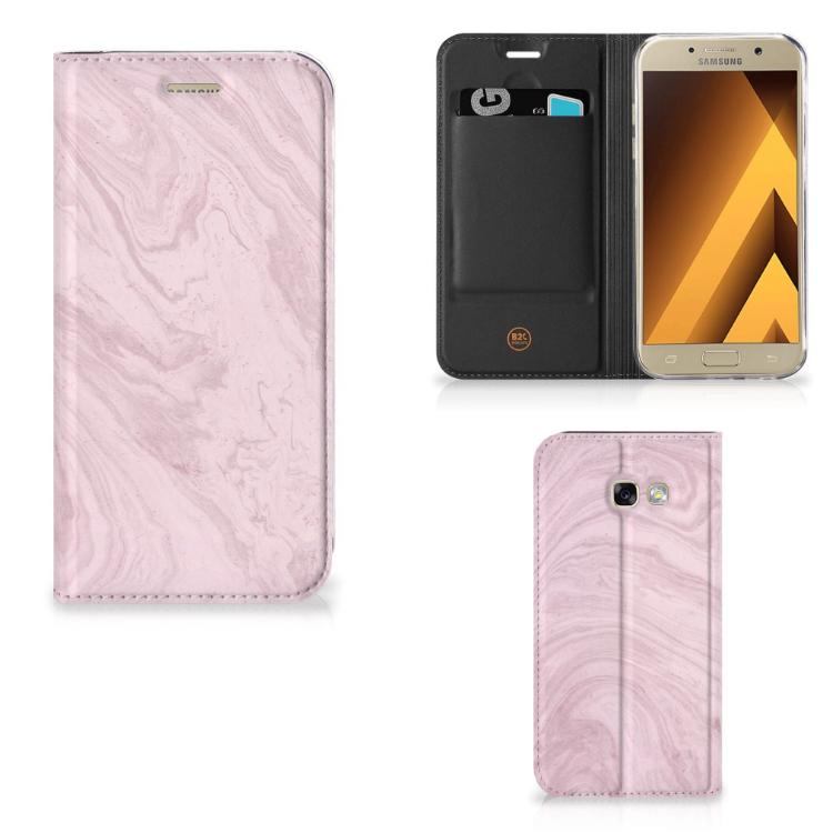 Samsung Galaxy A5 2017 Standcase Marble Pink - Origineel Cadeau Vriendin
