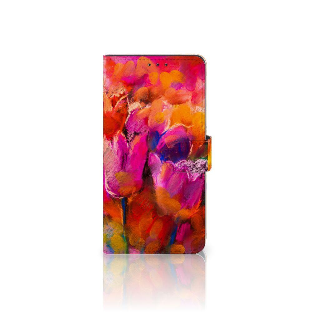 Samsung Galaxy A8 Plus (2018) Boekhoesje Design Tulips