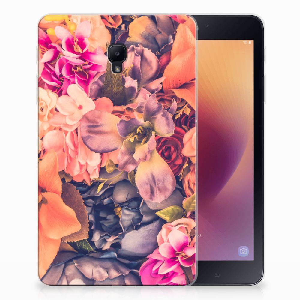 Samsung Galaxy Tab A 8.0 (2017) Tablethoesje Design Bosje Bloemen