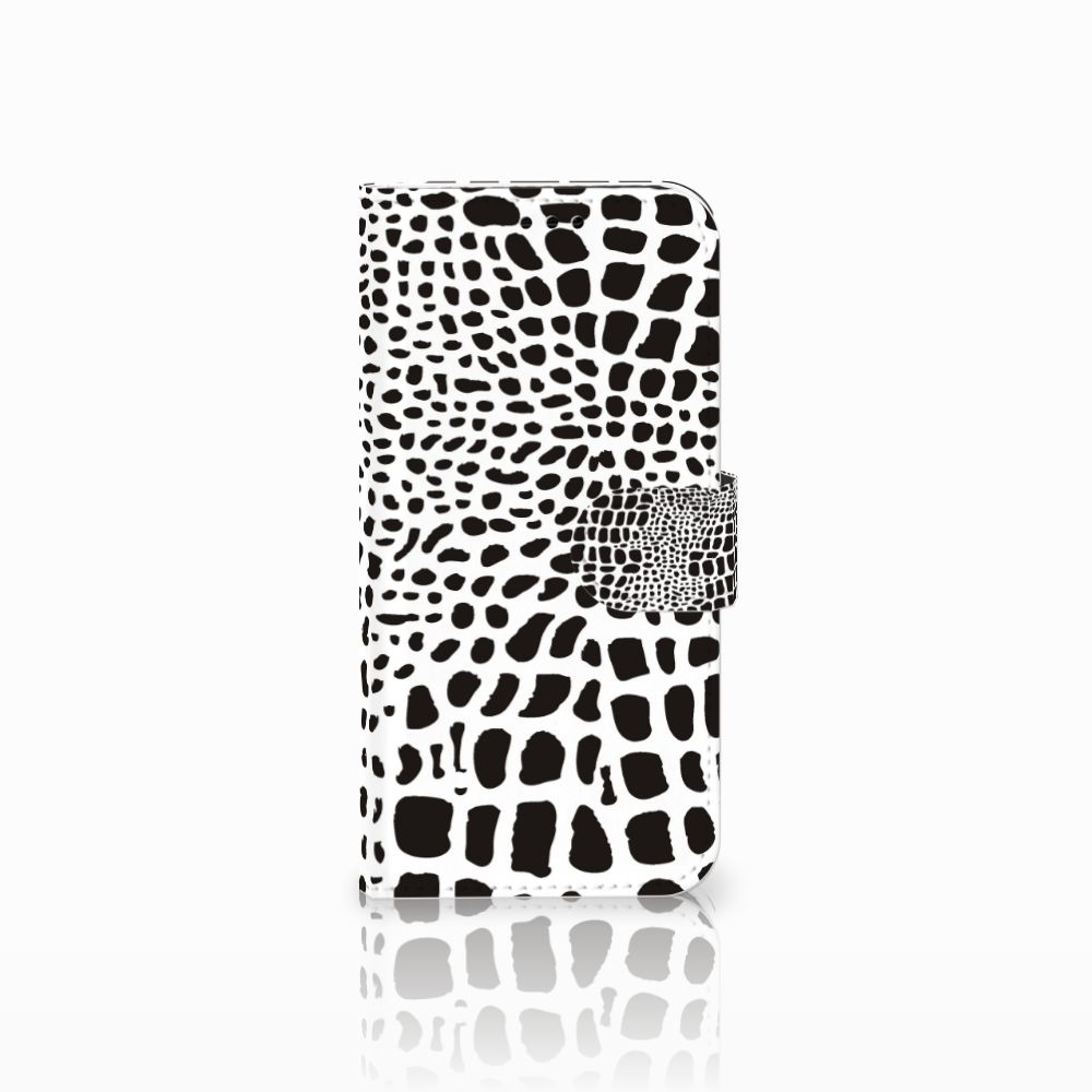 Samsung Galaxy A5 2017 Telefoonhoesje met Pasjes Slangenprint