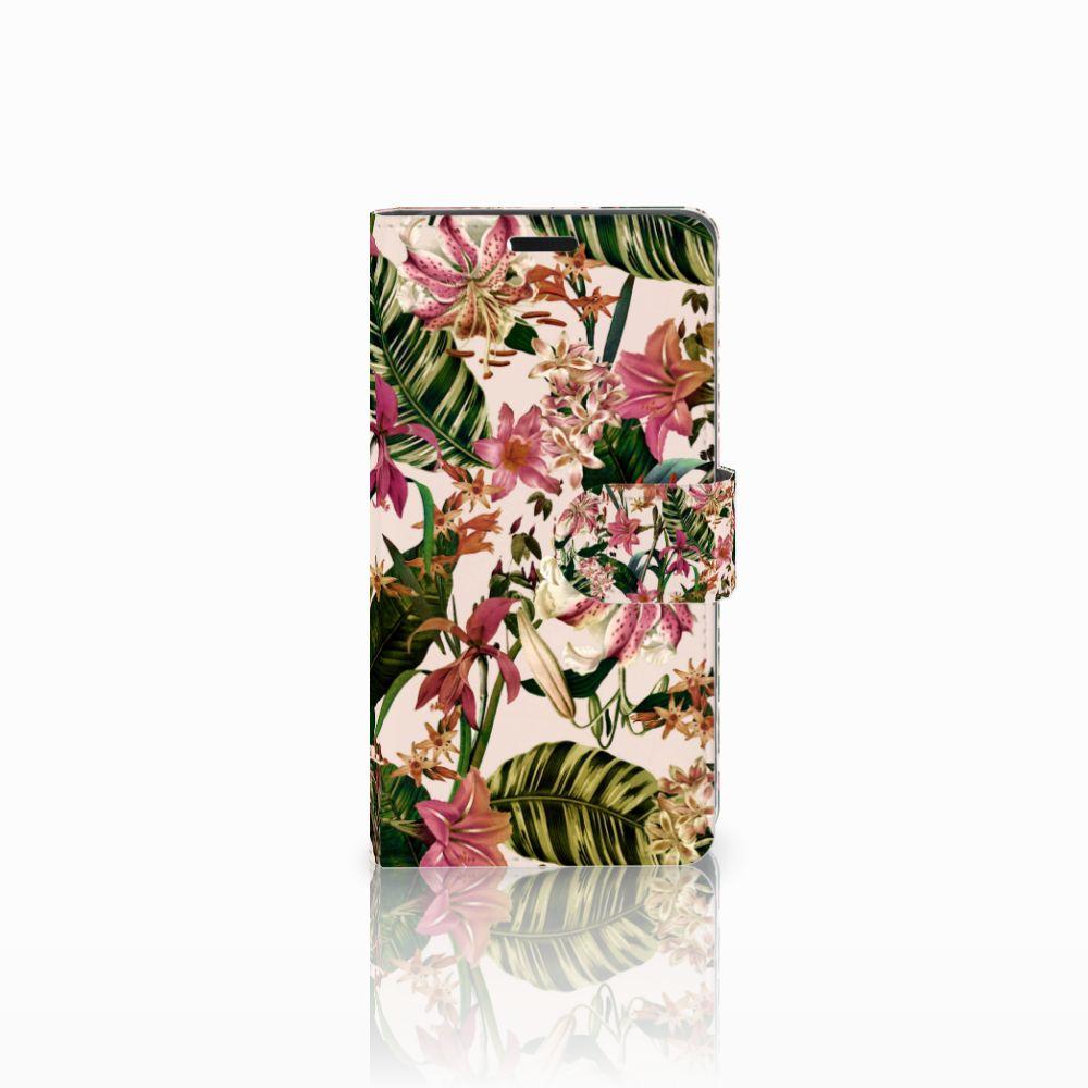 Lenovo C2 Power Uniek Boekhoesje Flowers