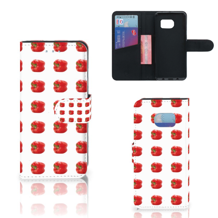 Samsung Galaxy S6 Edge Book Cover Paprika Red