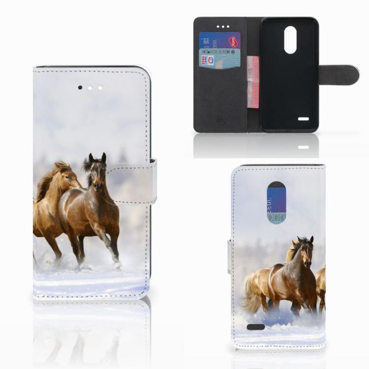 LG K11 Telefoonhoesje met Pasjes Paarden