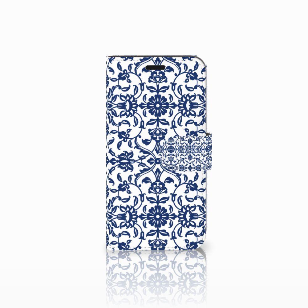 Huawei Nova Uniek Boekhoesje Flower Blue