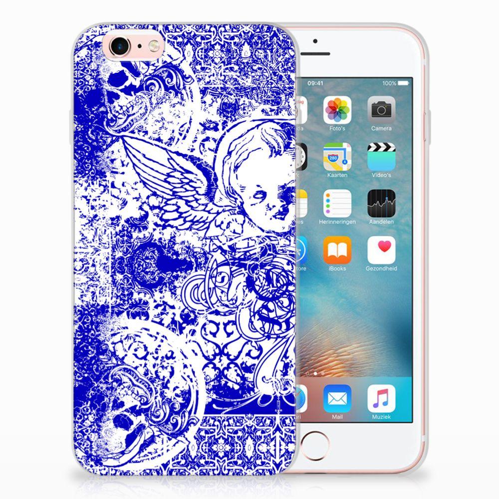 Apple iPhone 6 | 6s Uniek TPU Hoesje Angel Skull Blue