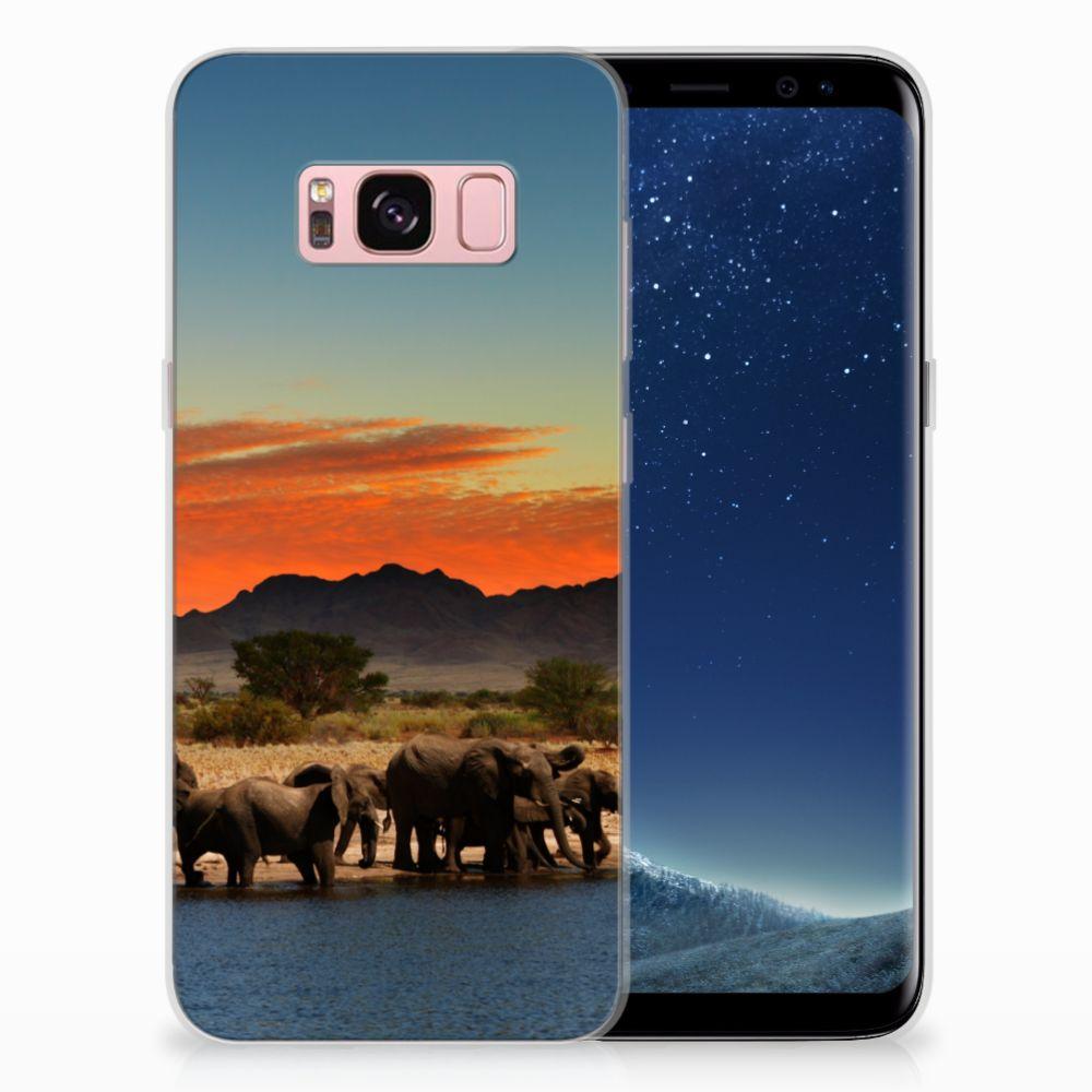 Samsung Galaxy S8 TPU Hoesje Design Olifanten