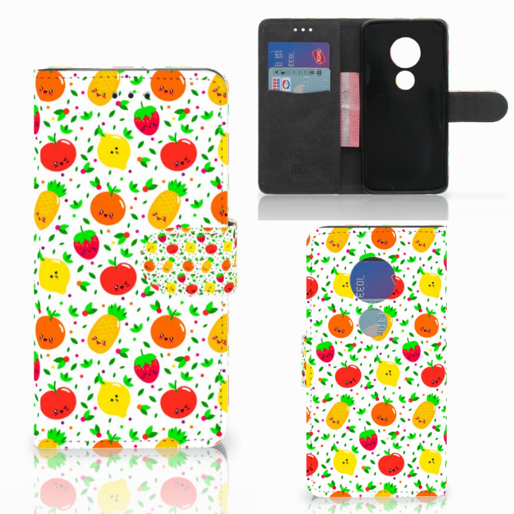 Motorola Moto G7 Play Book Cover Fruits