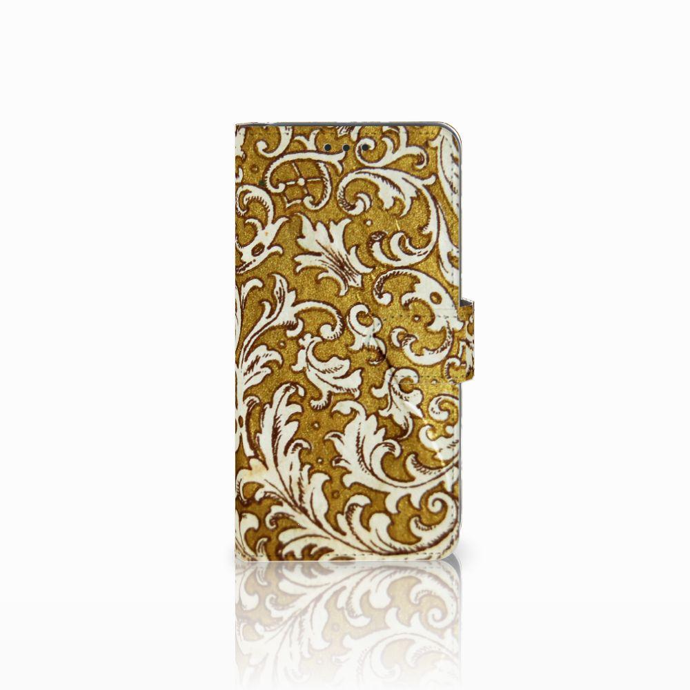Samsung Galaxy A8 2018 Boekhoesje Design Barok Goud