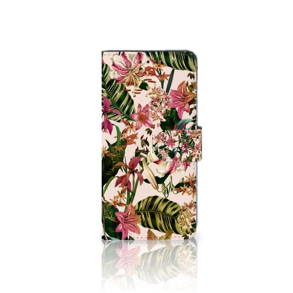 Huawei Mate 10 Pro Uniek Boekhoesje Flowers