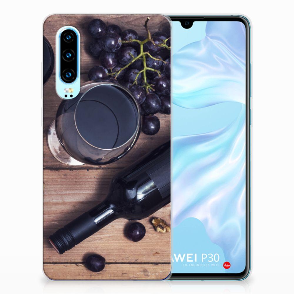 Huawei P30 Siliconen Case Wijn