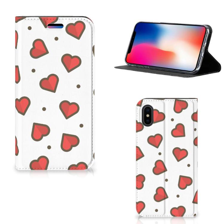 Apple iPhone X | Xs Hoesje met Magneet Hearts